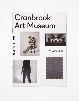 Identity redesign for Cranbrook Art Museum, Fall 2018 Newsletter. Photo by PD Rearick