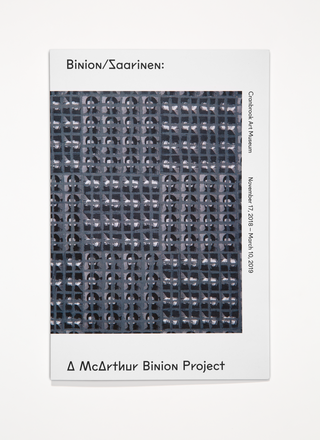 Exhibition Identity. <em> Binion/Saarinen</em>, 2019. Curated by McArthur Binion & Laura Mott. Photo by PD Rearick